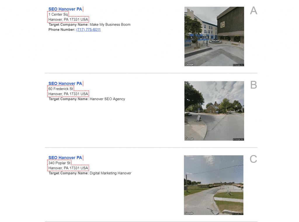 local seo map citations